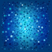 Abstract christmas blue stars background — Stock Vector