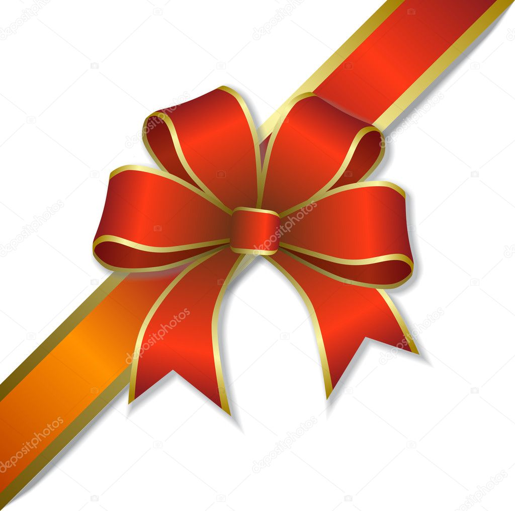 Gift Ribbon Vector Free Download Red Gift Ribbon And Bow Vector