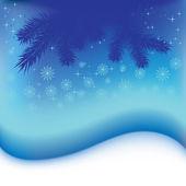 クリスマス雪青いベクトル抽象的な背景 — ストックベクタ