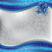Vánoční pozdrav s modrými luk — Stock fotografie