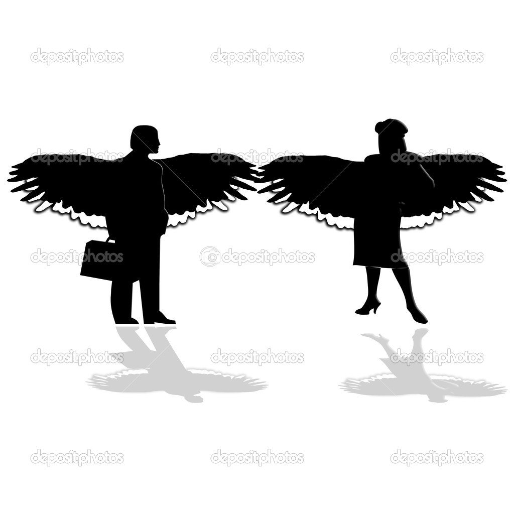 Illustration of business man and woman — Stock Vector #2831108