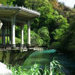 Pavilion on the bank of the river — Stockfoto