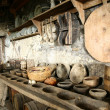 Stock Photo: Antiquaritableware in old kitchen.