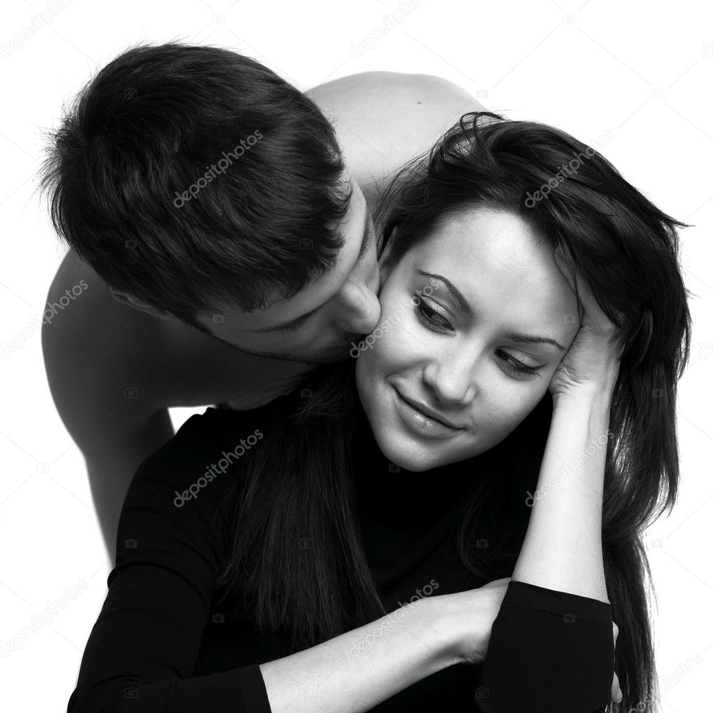 Fashion portrait of beautiful young lovers — Stock Photo #2727921