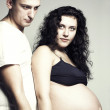 Royalty-Free Stock Photo: Pregnant woman with husband