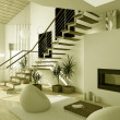 3D Interioir of modern living-room - Lizenzfreies Foto