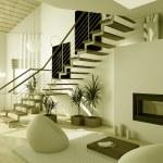 3D Interioir of modern living-room — Stock Photo