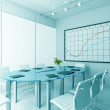 3d design of modern office - Stock Photo