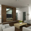 3D Interioir of modern living-room - 图库照片
