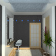 3D render modern interior of bedroom - 图库照片