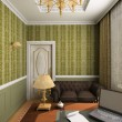 Stock Photo: Classic interior. 3D render