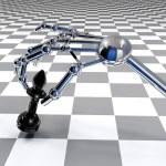 Hand of robot — Stock Photo