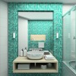 3D render modern interior of bathroom - Stock Photo