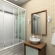 3d render modern interior of bathroom — Stock Photo