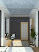 3d render moderne interieur van slaapkamer — Stockfoto