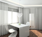 3D render modern interior of kitchen — Stock Photo