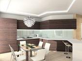 Modern comfortable kitchen. — Stock Photo