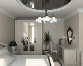 3d render klassische einrichtung schlafzimmer — Stockfoto