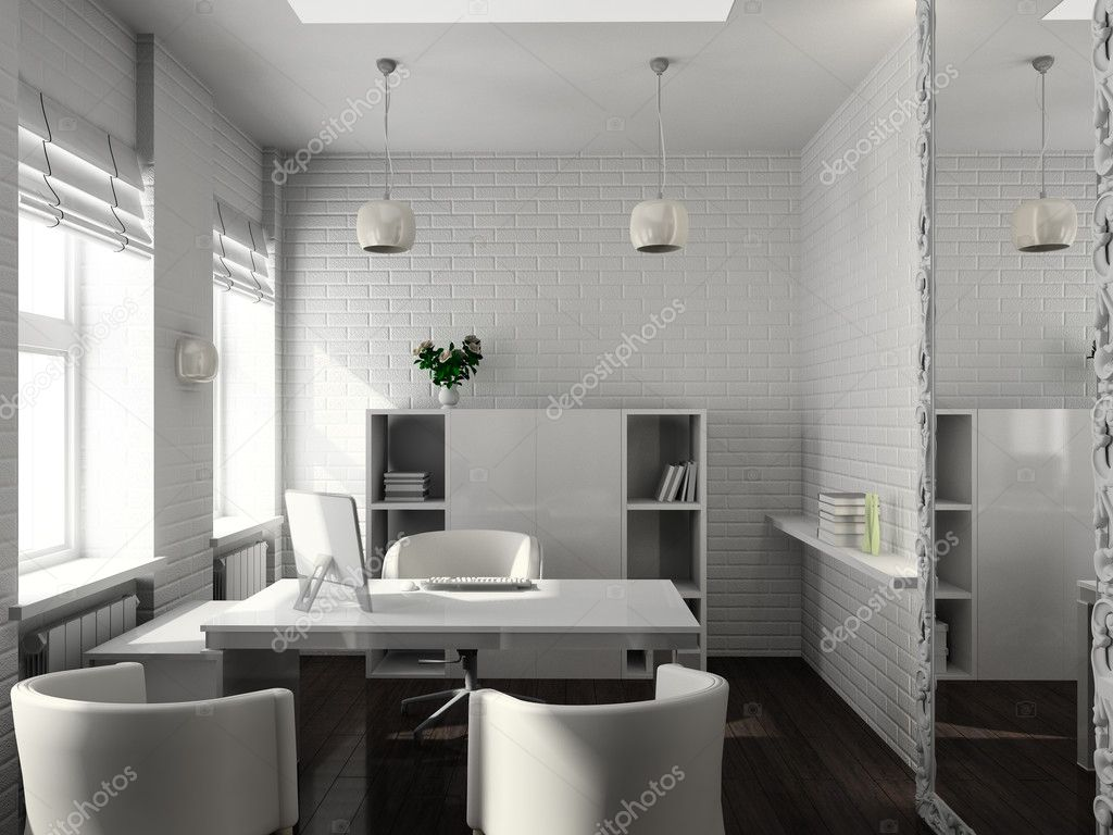 Modern design interior of office. 3D render — Stock Photo #2786684