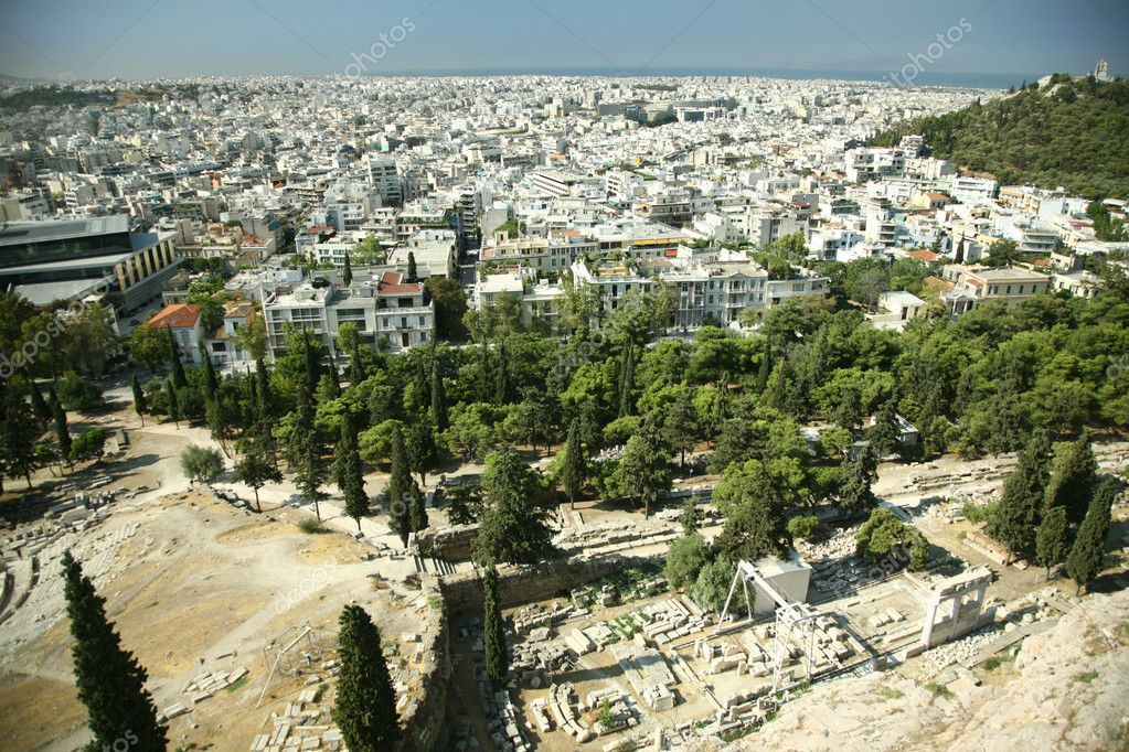 Greece. Beautiful landscape of big south city — Stock Photo #2877384