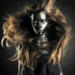 Beautiful woman with black skin — ストック写真