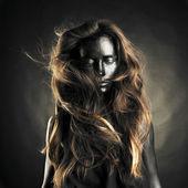 Beautiful woman with black skin — Stock Photo
