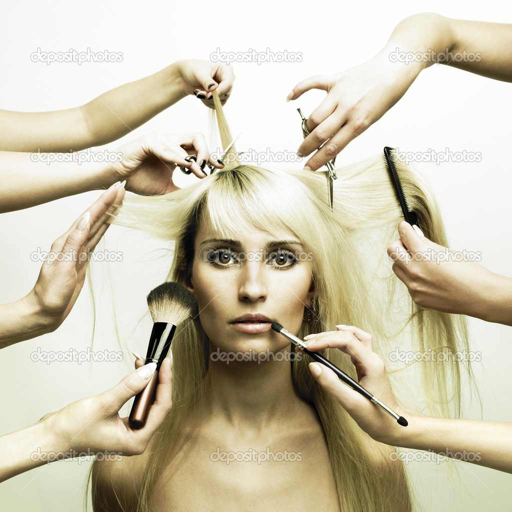 Woman in a beauty salon. Conceptual photo  Lizenzfreies Foto #3404005