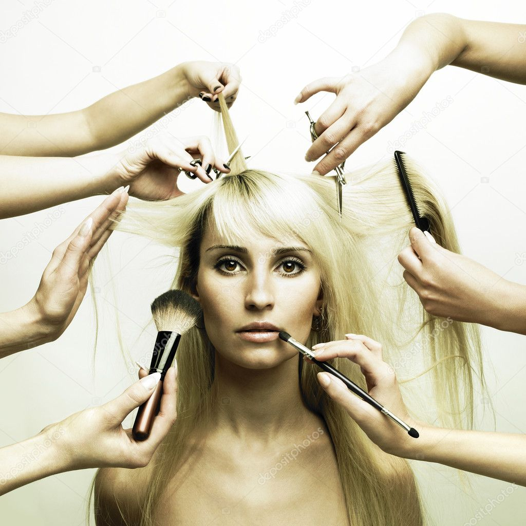Woman in a beauty salon. Conceptual photo  Photo #3404005