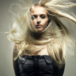 Stock Photo: beautiful woman with magnificent hair
