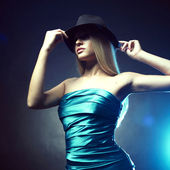 Young dancing woman — Stock Photo
