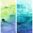 Beautiful watercolor background in soft green, blue and yellow — Stock Photo