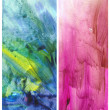 Beautiful watercolor background in soft green, blue and magenta — Stock Photo