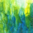 Beautiful watercolor background in soft green, yellow and blue — Photo