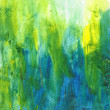 Beautiful watercolor background in soft green, yellow and blue — Lizenzfreies Foto