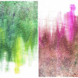 Beautiful watercolor background in soft pink, yellow and green — Stock Photo