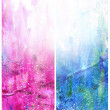 Beautiful watercolor background in soft white, blue and magenta — Stock Photo