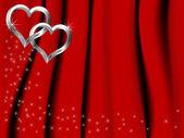 Silver hearts — Stock Vector