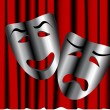 Comedy and tragedy theater masks — Stock Vector #3611140