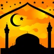 Royalty-Free Stock Vector Image: Silhouette of mosque
