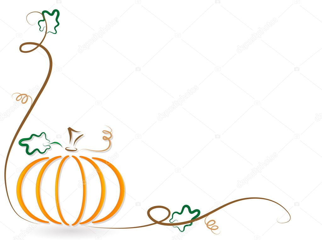 Abstract orange pumpkin - vector illustration — Stock Vector #3658172