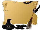 Halloween perkament — Stockvector
