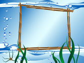 Marco de agua Vector — Stockvector