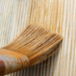 Painting brush on wood — Stock Photo