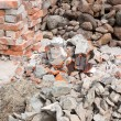 Pile of f rubble — Stok fotoğraf
