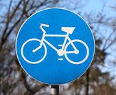 Bicycle way sign — Stock Photo