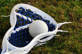 Lacrosse head with ball — Stock Photo