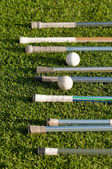 Lacrosse Stick Handles and Balls — Stock Photo