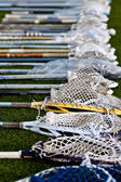 Lacrosse Heads on the Ground — Stock Photo