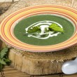 Nettle soup - Stock Photo