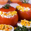 Tomatoes Stuffed - Stock Photo